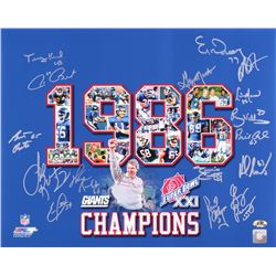 1986 Giants Super Bowl XXI Champions 16x20 Photo Team Signed by (16) with Terry Kinard, Jim Burt, Ba