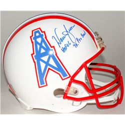"Warren Moon Signed Oilers Full-Size Authentic Helmet Inscribed ""HOF 06""  ""9x Pro Bowl"" (Moon Hologra"