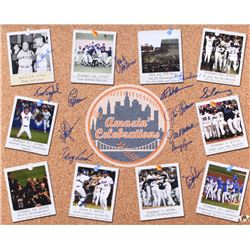 Mets Amazin' Celebrations 16x20 Photo Signed by (13) with Bud Harrelson, Wally Backman, Ed Hearn, Te