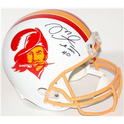 Mike Alstott Signed Buccaneers Full-Size Throwback Helmet (Radtke COA)