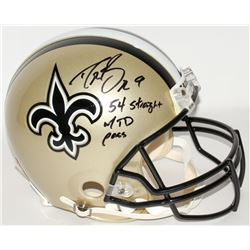 "Drew Brees Signed Saints Full-Size Authentic Helmet Inscribed ""54 Straight w/ TD Pass"" (Brees Hologr"