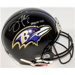"Joe Flacco Signed Ravens Full-Size Authentic Pro-Line Helmet Inscribed ""SB XLVII MVP"" (PSA COA)"