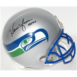 "Warren Moon Signed Seahawks Full-Size Helmet Inscribed ""HOF 06"" (Moon Hologram)"