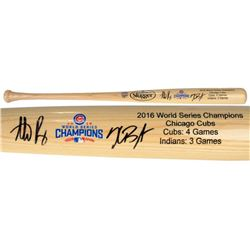 Kris Bryant  Anthony Rizzo Signed Cubs 2016 World Series Champions Louisville Slugger Baseball Bat (