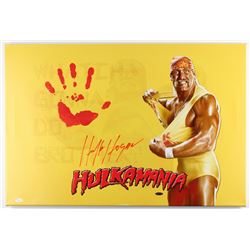 "Hulk Hogan Signed 20"" x 31"" Giclee on Gallery Stretched Canvas with Original Handprint (JSA LOA)"