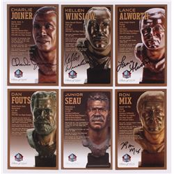 Lot of (6) Chargers LE Bronze Bust Football Hall of Fame Postcards with (2) Unsigned Postcards,  (4)