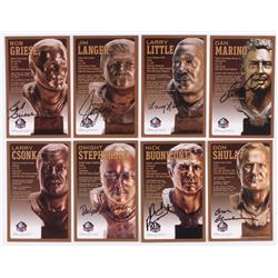 Lot of (8) Dolphins LE Bronze Bust Football Hall of Fame Postcards with (1) Unsigned Postcard,  (7)