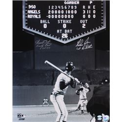 "Nolan Ryan  Amos Otis Signed 16x20 Photo Inscribed ""1st No-Hitter""  "" Final Out 5-15-73"" (FSC COA  R"