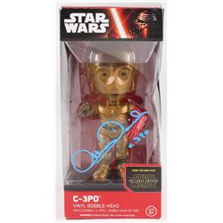 "Anthony Daniels Signed C-3PO ""Star Wars: the Force Awakens"" Bobble Head Inscribed ""C-3PO"" (Radtke CO"
