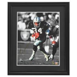 Bo Jackson Signed Raiders 23x27 Custom Framed Photo Display (Radtke COA  Jackson Hologram)