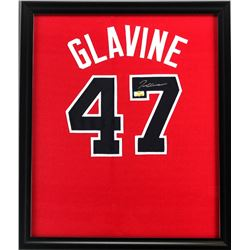 Tom Glavine Signed Braves 23x27 Custom Framed Jersey (Radtke COA)