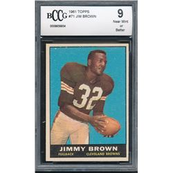 1961 Topps #71 Jim Brown (BCCG 9)