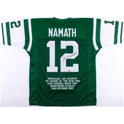 Joe Namath Signed Jets Career Highlight Stat Jersey (JSA COA  Namath Hologram)