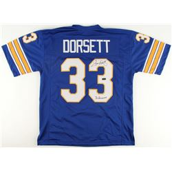 "Tony Dorsett Signed Pittsburgh Panthers Jersey Inscribed ""76 Heisman"" (Radtke COA)"