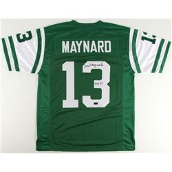 "Don Maynard Signed Jets Jersey Inscribed ""HOF 87"" (Radtke COA)"