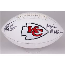 "Christian Okoye Signed Chiefs Logo Football Inscribed ""Nigerian Nightmare"" (JSA COA)"