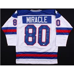 """1980 Team USA """"Miracle on Ice"""" Jersey Signed by (17) Including Mike Eruzione, Jim Craig, Jack O'Call"""