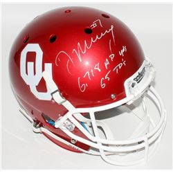 """DeMarco Murray Signed Oklahoma Sooners Full-Size Helmet Inscribed """"6,718 A.P. Yards""""  """"65 TD's"""" (Mur"""