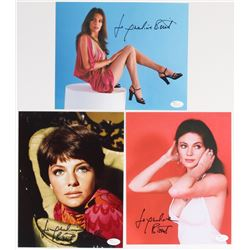 Lot of (3) Jacqueline Bisset Signed 8x10 Photos (JSA COA)