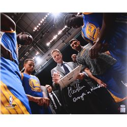 "Steve Kerr Signed Warriors 16x20 Photo Inscribed ""Strength In Numbers"" (Schwartz COA)"