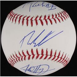 Tom Ricketts, Theo Epstein  Jed Hoyer Signed OML Baseball (JSA COA)