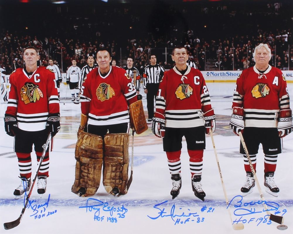 Bobby Hull Blackhawks 16 Chicago Blackhawks Hal...
