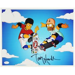 "Tony Hawk Signed ""The Simpsons"" 11x14 Photo (JSA COA)"
