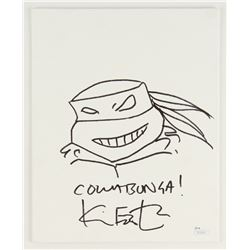 Kevin Eastman Signed 'Teenage Mutant Ninja Turtles' Original Hand-Drawn Sketch on 8x10 Canvas (JSA C