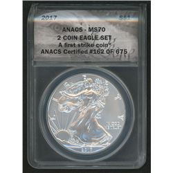 2017 First Strike LE Silver Eagle (ANACS MS70)