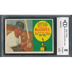 1960 Topps #316 Willie McCovey All-Star RC (BCCG 8)