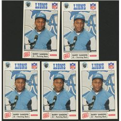 Lot of (5) 1989 Lions Police #11 Barry Sanders