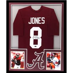 Julio Jones Signed Alabama Crimson 34x42 Custom Framed Jersey (Radtke COA)