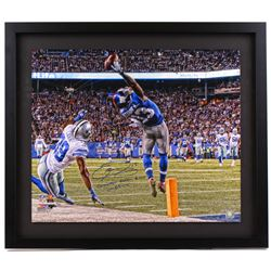 "Odell Beckham Jr. Signed Giants ""The Catch"" 26"" x 30"" LE Custom Framed Photo Inscribed ""Greatest Cat"