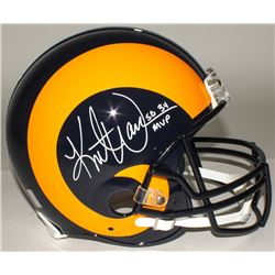 "Kurt Warner Signed Rams Full-Size Throwback Authentic Helmet Inscribed ""SB 34 MVP"" (Warner Hologram)"