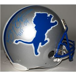 "Barry Sanders Signed Lions Full-Size Helmet Inscribed ""HOF 04"" (Schwartz Hologram)"