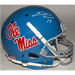 Evan Engram Signed Ole Miss Rebels Full-Size Helmet (JSA COA)
