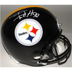 T. J. Watt Signed Steelers Full-Size Helmet (Watt Hologram)
