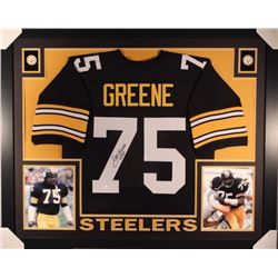 "Joe Greene Signed Steelers 35"" x 43"" Custom Framed Jersey Inscirbed ""HOF 87"" (JSA COA)"