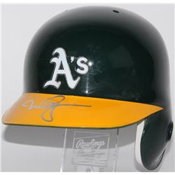 Mark McGwire Signed Athletics Rawlings Authentic Full-Size Batting Helmet (JSA ALOA)