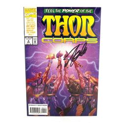 "Stan Lee Signed ""Thor Corps"" Marvel Comic Book (Stan Lee COA)"
