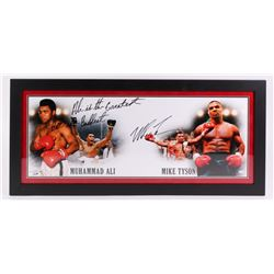 "Mike Tyson Signed ""Tyson  Ali"" 17x36 Custom Framed Photo Inscribed ""Ali is the Greatest, But I am Ba"