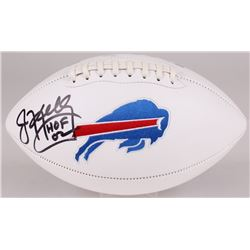 "Jim Kelly Signed Bills Logo Football Inscribed ""HOF 02"" (JSA COA)"
