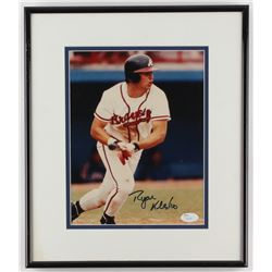Ryan Klesko Signed Braves 12.5x14.5 Custom Framed Photo Display (JSA COA)