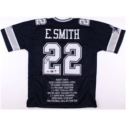 Emmitt Smith Signed Cowboys Career Highlight Stat Jersey (Prova  Smith Hologram  Radtke COA)