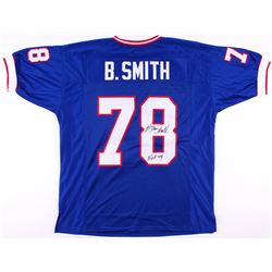 "Bruce Smith Signed Bills Jersey Inscribed ""HOF 09"" (JSA Hologram)"