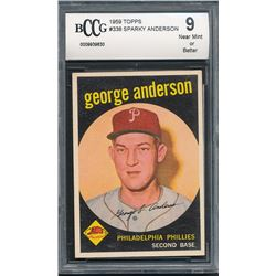 1959 Topps #338 Sparky Anderson RC (BCCG 9)