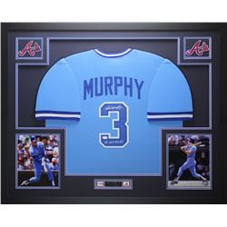 "Dale Murphy Signed Braves 35"" x 43"" Custom Framed Jersey Inscribed ""NL MVP 82, 83"" (JSA COA)"