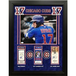 Kris Bryant Signed Chicago Cubs 22x24 Custom Framed Photo  Ticket Stub Display (JSA COA)