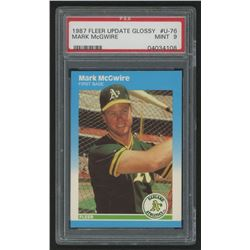 1987 Fleer Update Glossy #76 Mark McGwire (PSA 9)