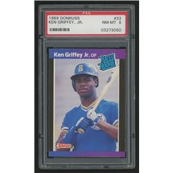 1989 Donruss #33 Ken Griffey Jr. RC (PSA 8)